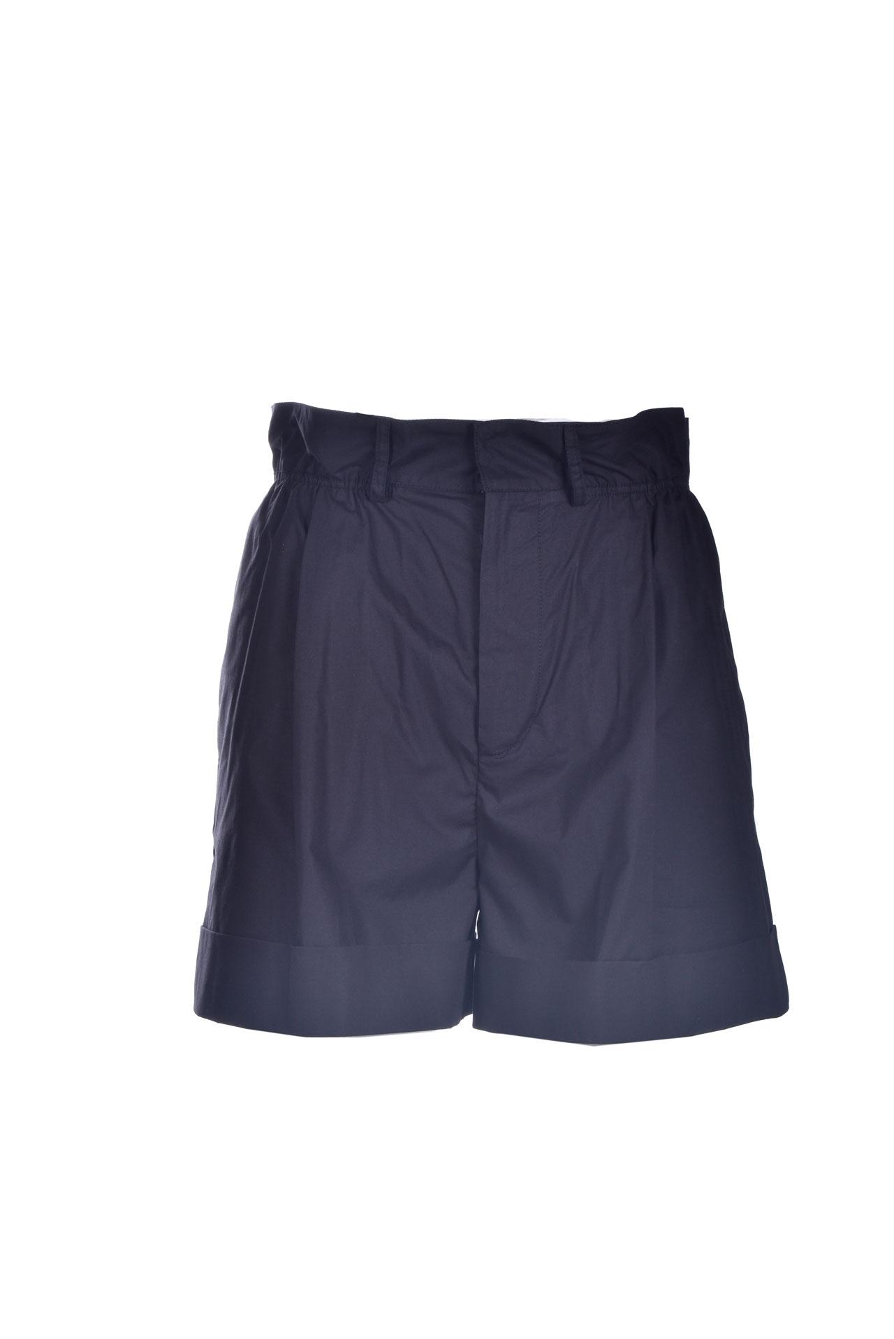 Black high-waisted cotton shorts JUCCA | Shorts | J3314012003