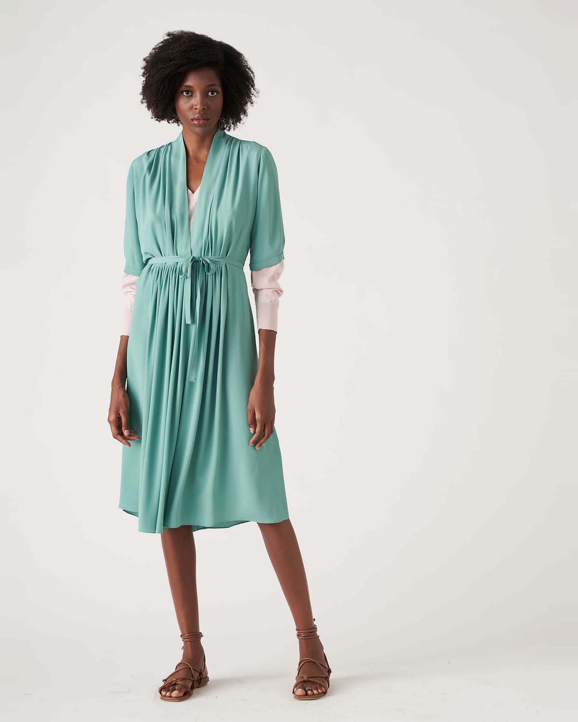 Crepe midi dress with strap JUCCA      J3317009314
