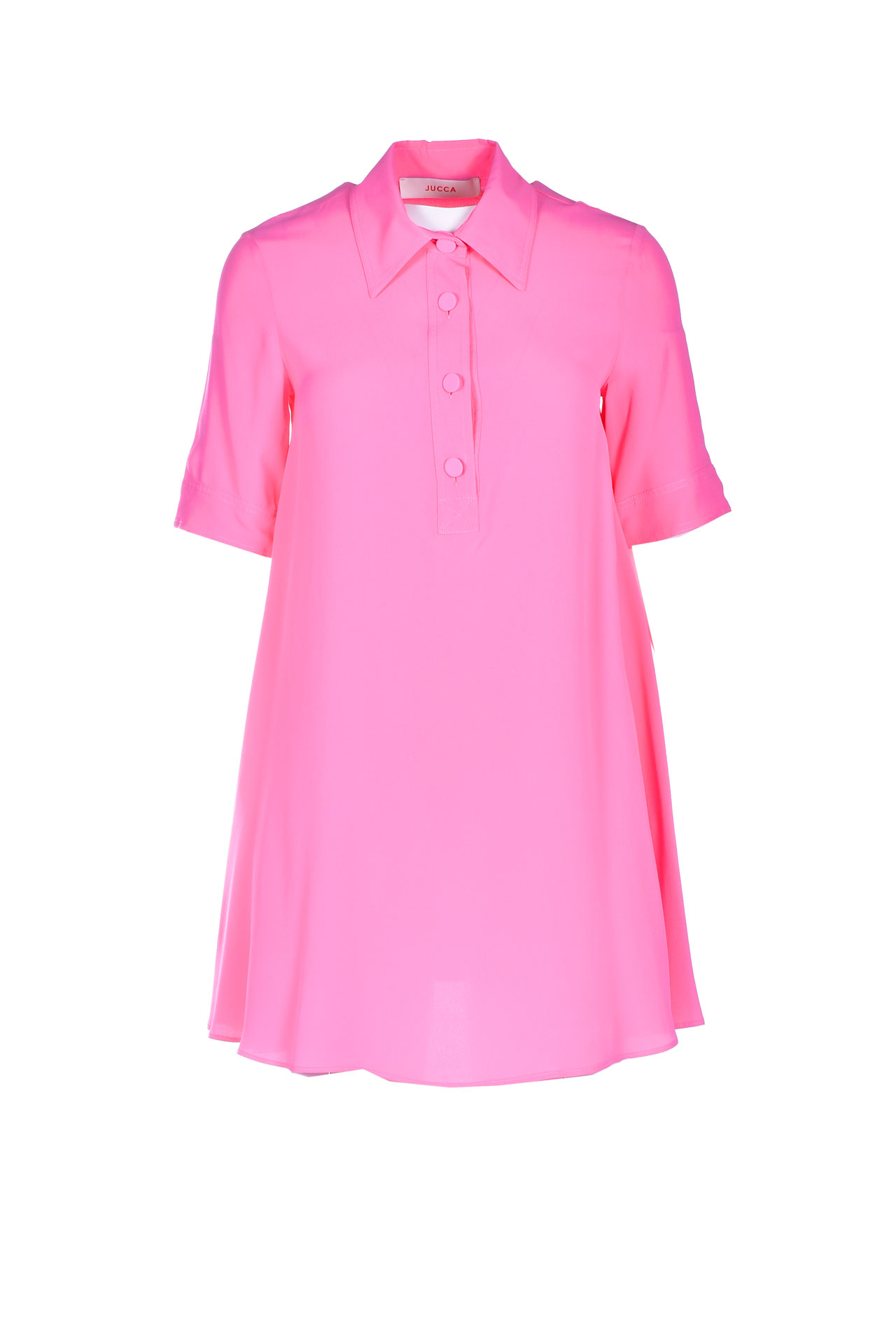 Mini polo dress in bright pink crepe JUCCA |  | J33170111701