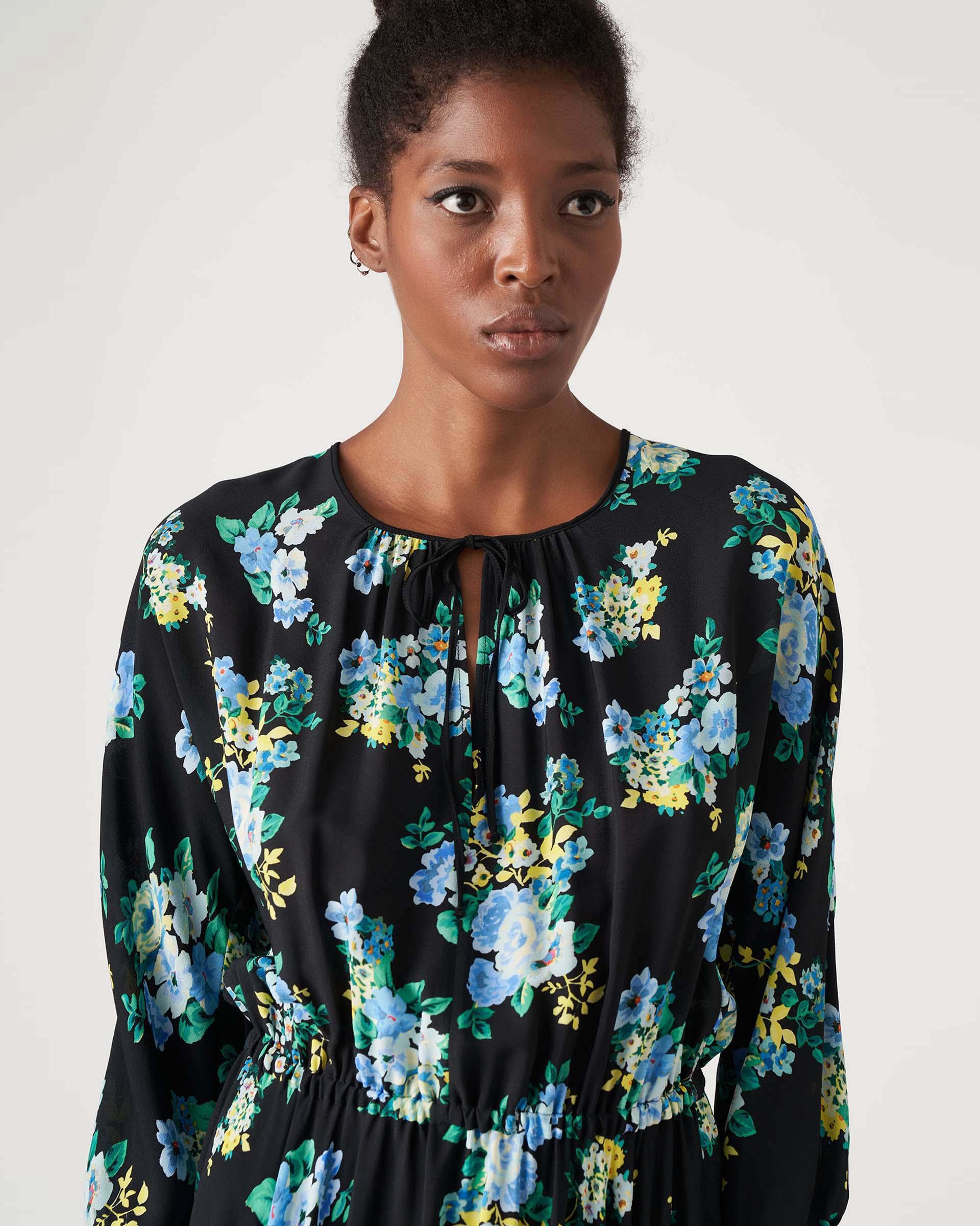 Short dress in floral patterned crepe JUCCA |  | J3317021003
