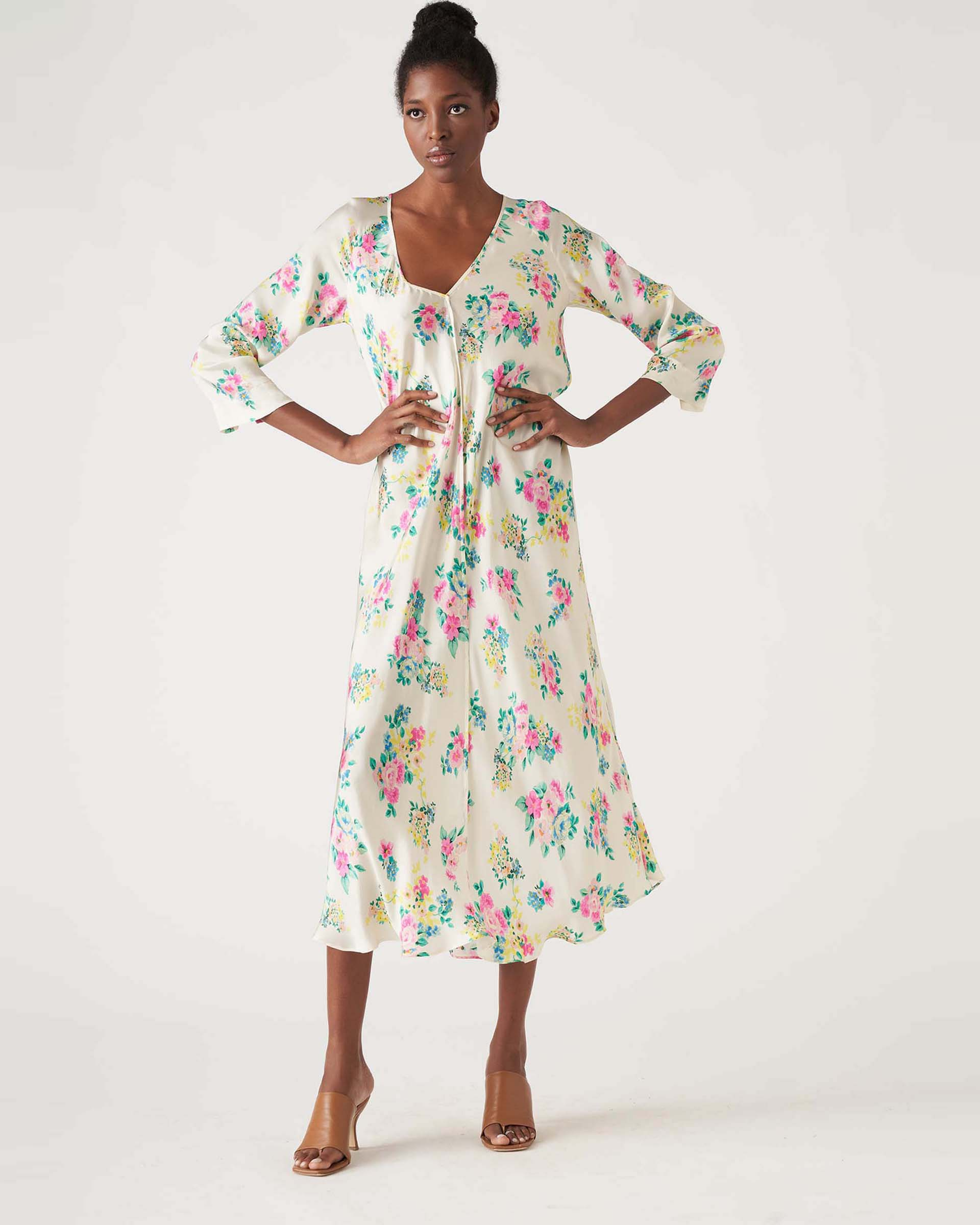 Floral patterned crepe tunic dress JUCCA |  | J3317025061