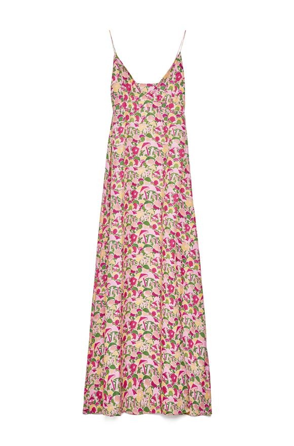Long dress in pink multicolor patterned satin M MISSONI |  | 2DG00543/2W0070S60AQ
