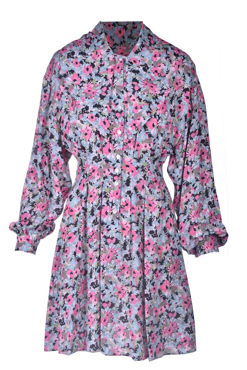 Short pink floral patterned shirt dress M MISSONI |  | 2DG00546/2W006ZS307S