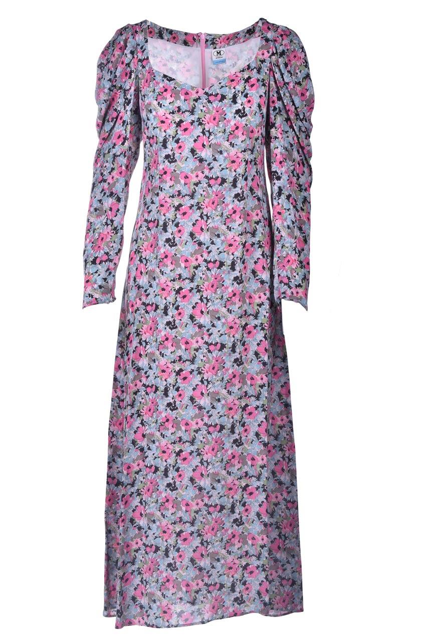 Vestito lungo in fantasia floreale rosa M MISSONI | Vestiti | 2DG00547/2W006ZS307S