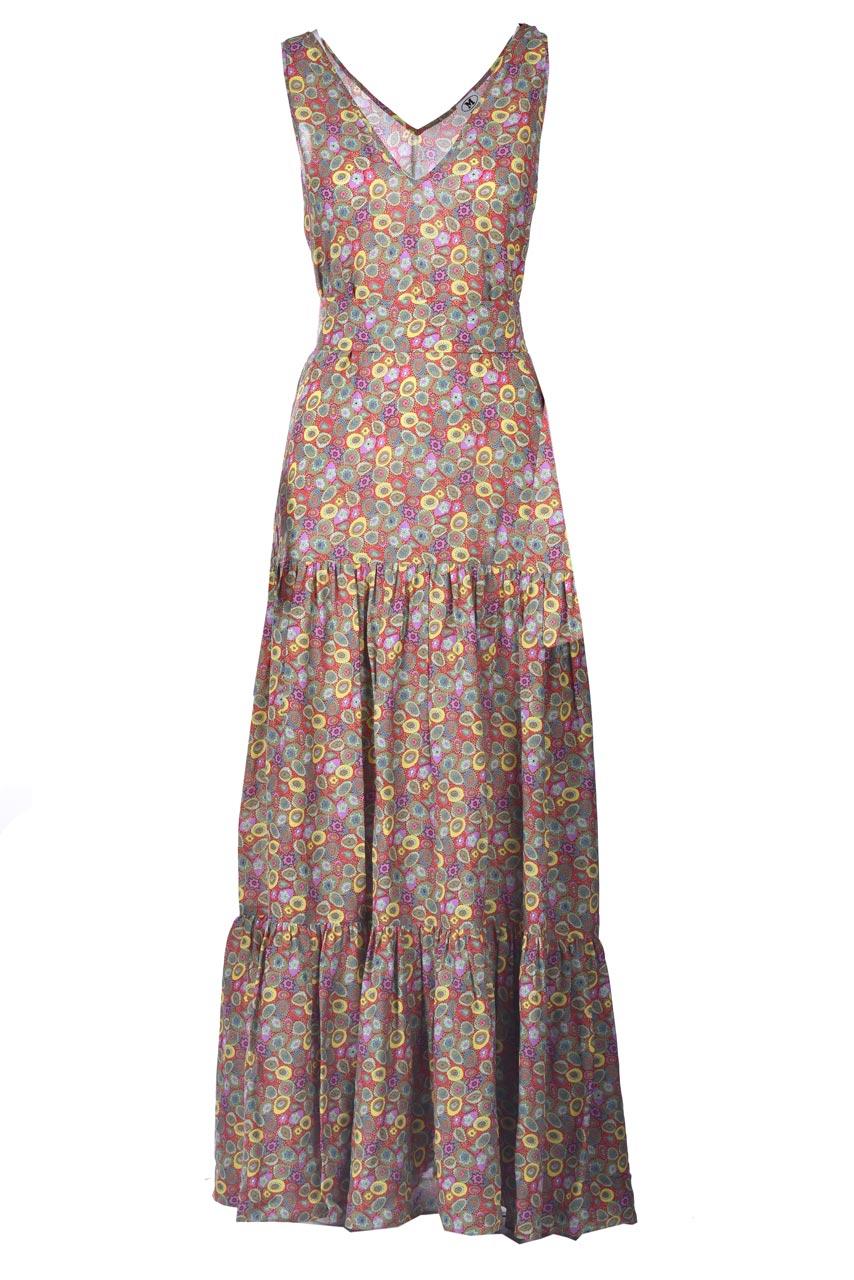 Long dress in multicolor patterned satin. M MISSONI |  | 2DG00607/2W007AS40EK