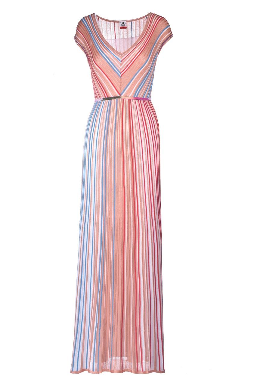 Long dress in multicolor lamé knit. M MISSONI |  | 2DG00630/2K0099S00I0