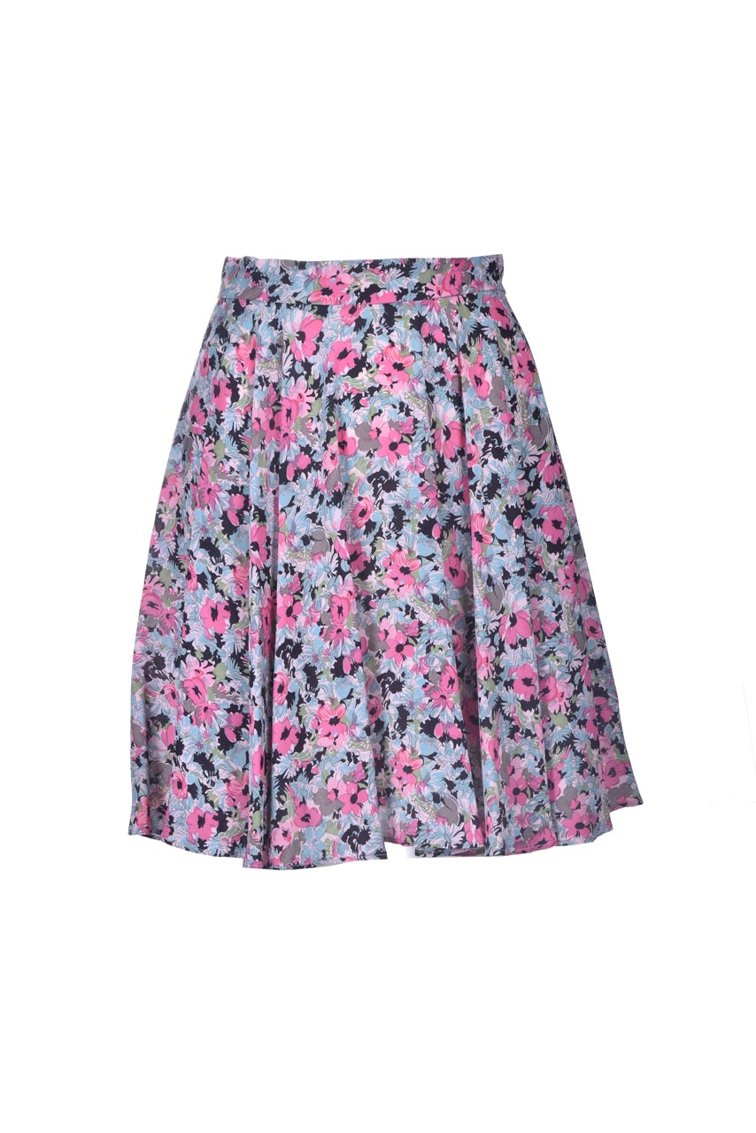 Wide skirt in floral patterned satin M MISSONI | Skirts | 2DH00184/2W006ZS307S