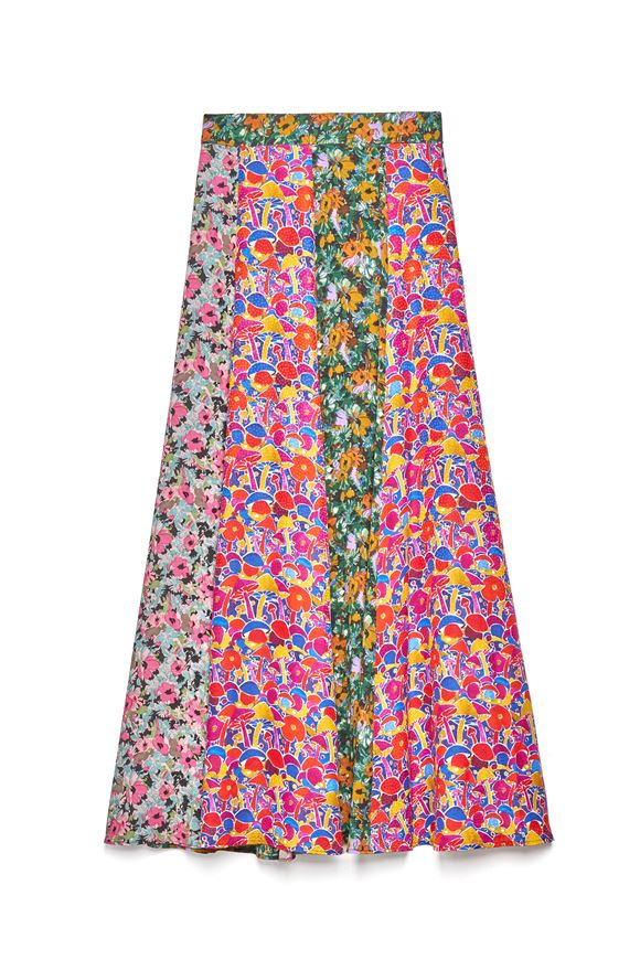Long skirt in floral patterned satin crepe M MISSONI | Skirts | 2DH00185/2W0077SM49H