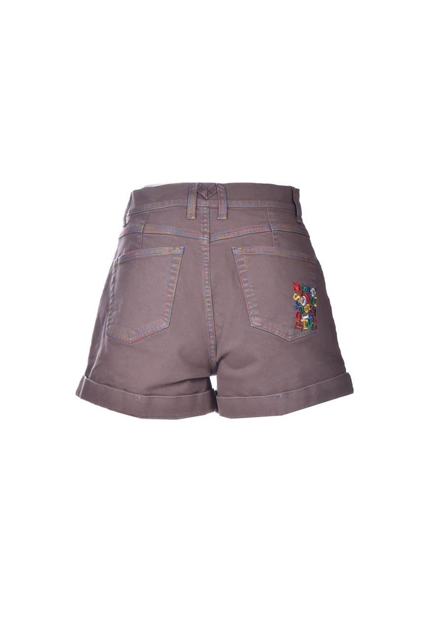 Turtledove denim shorts with turn-ups and embroidery M MISSONI   Shorts   2DI00285/2W006U71212