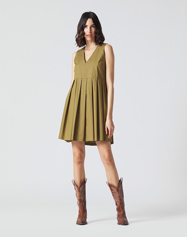 Sleeveless dress with military V-neck MANILA GRACE      A110CUMA014