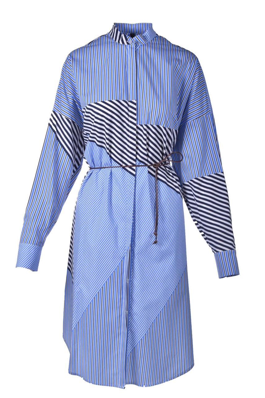 Abito chemisier in cotone a righe MANILA GRACE | Vestiti | A315CIMA003
