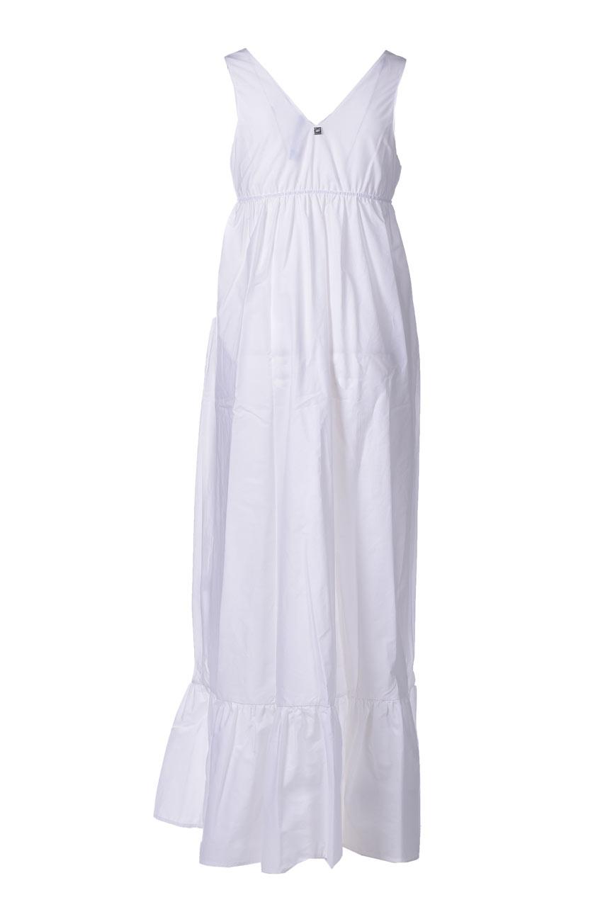 Long dress with V-neck and flounce MANILA GRACE |  | A385CUMA043