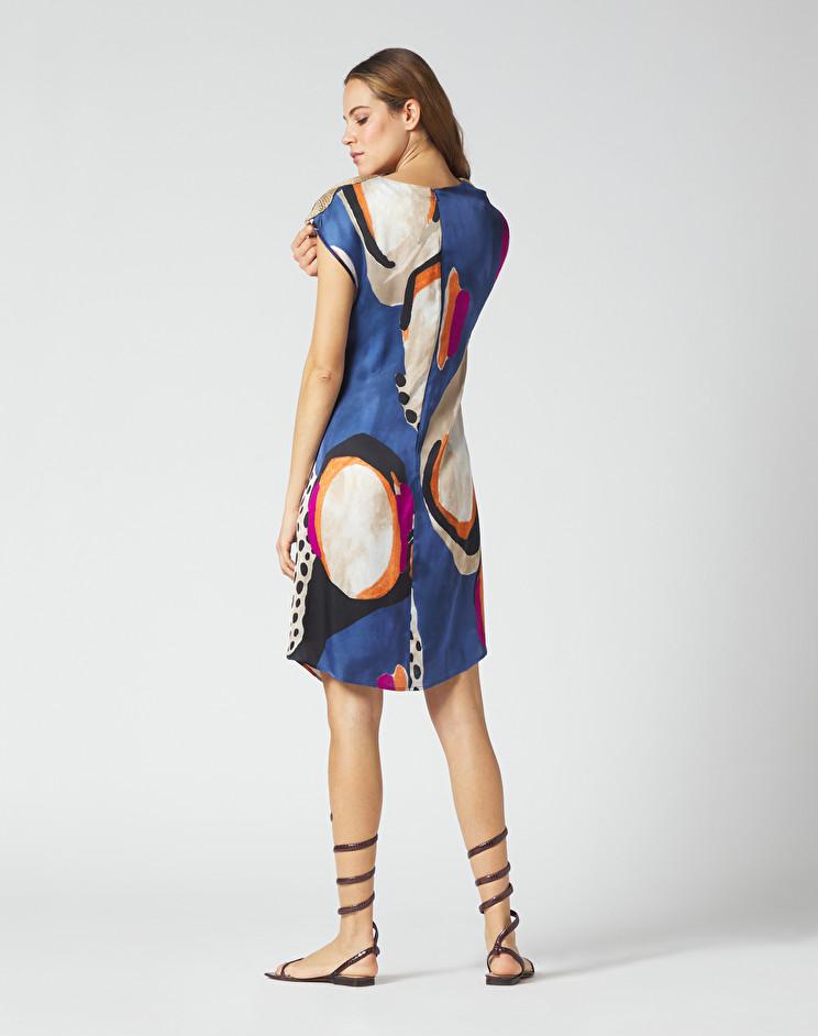 Abito tunica corto in crepe stampato MANILA GRACE | Vestiti | A394VSMA011