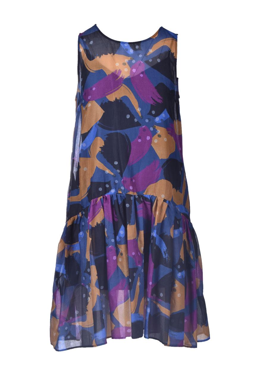 Armholes dress with cotton muslin flounce MANILA GRACE |  | A478CSMA011
