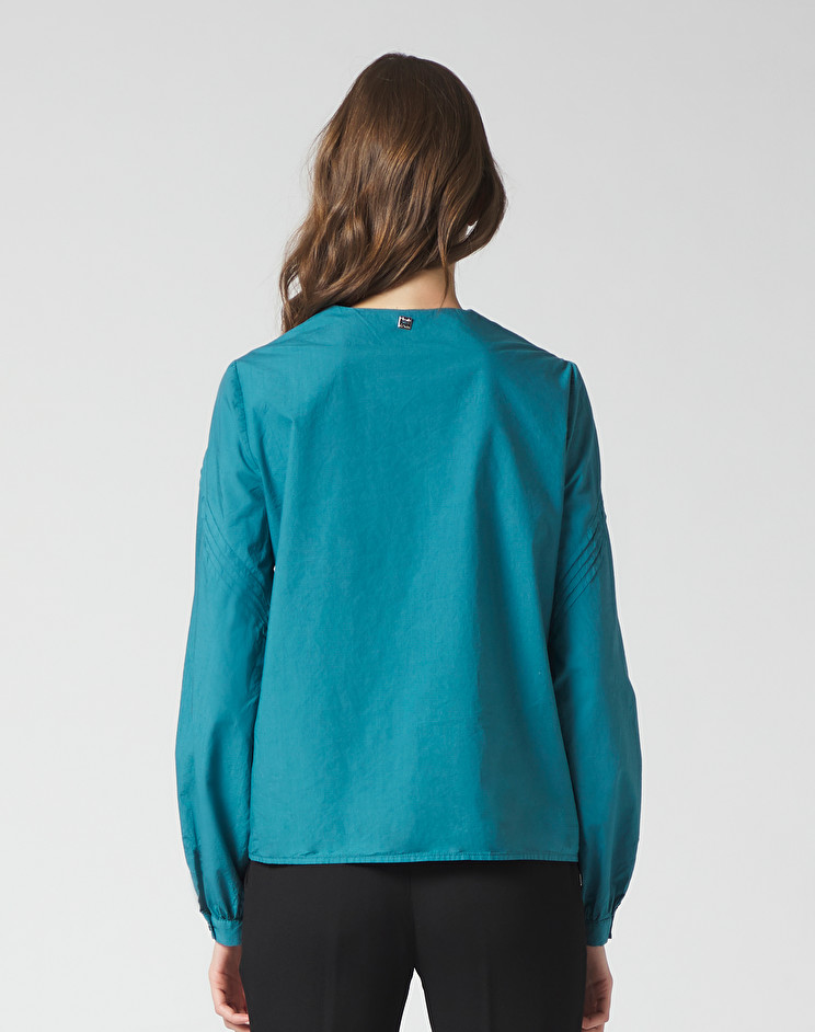 Long-sleeved blouse with small pleats MANILA GRACE | Blouses | C323CUMA047