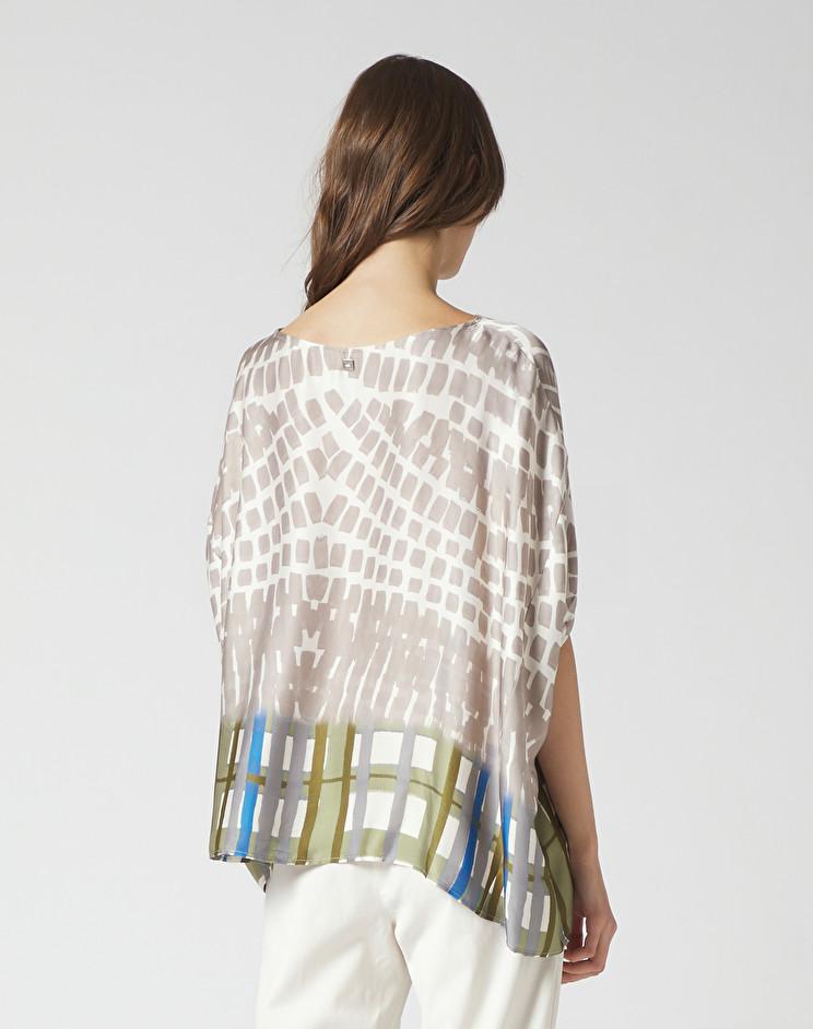Blusa in crepe con motivo geometrico MANILA GRACE | Bluse | C511VSMA042
