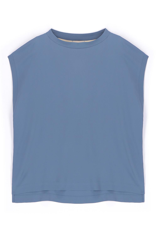 Blusa in seta Habutay cielo MOMONI | Bluse | MOBL0050821