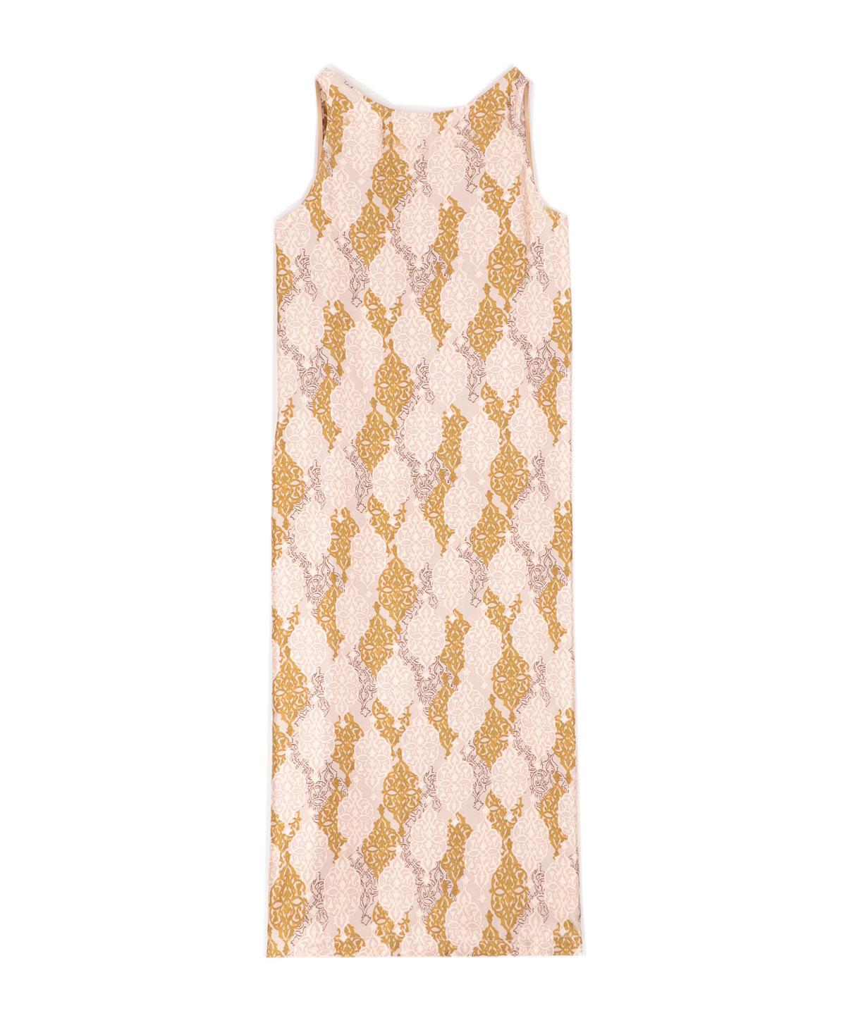 Vestito in twill di seta in stampa cipria e becco d'oca MOMONI | Vestiti | MODR0034126