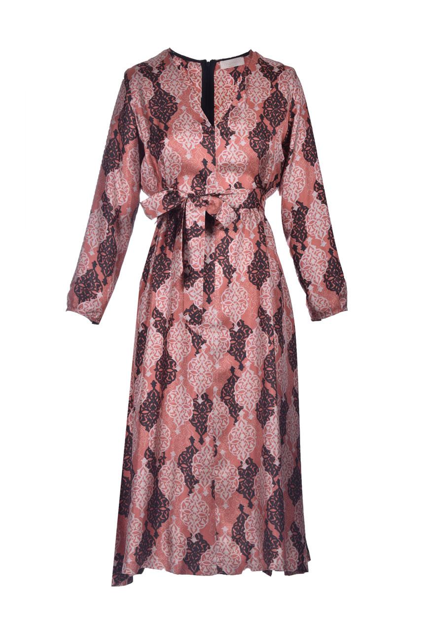 Printed silk twill midi dress MOMONI |  | MODR0044000