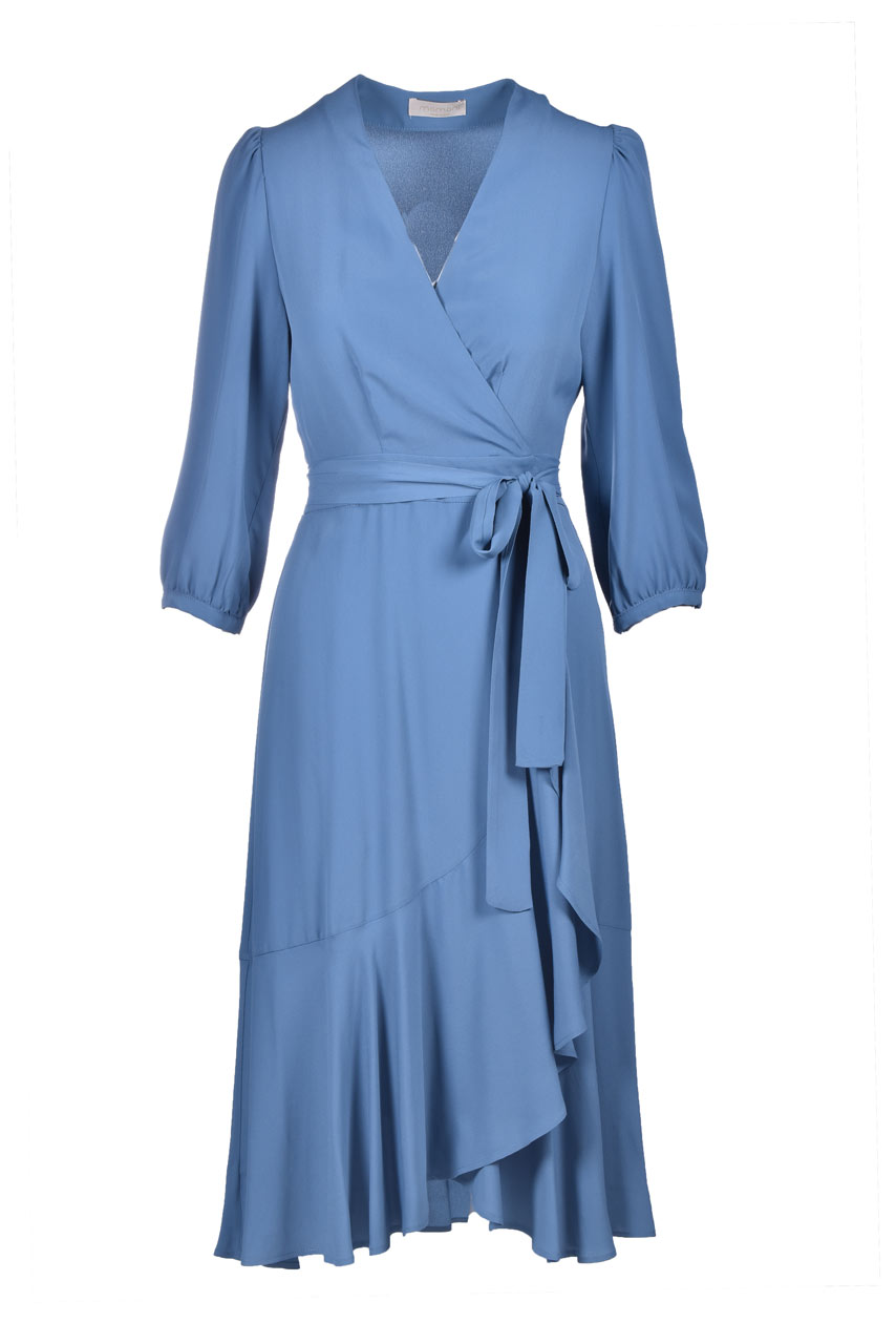 Vestito a portafoglio midi in crepe di seta MOMONI | Vestiti | MODR0150821