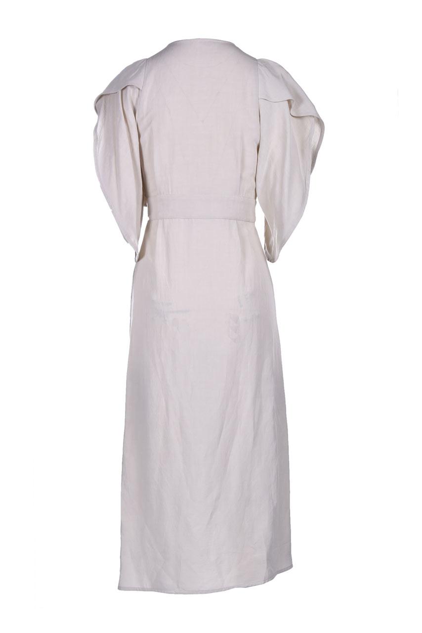 Wrap dress in viscose and linen MOMONI |  | MODR0260040