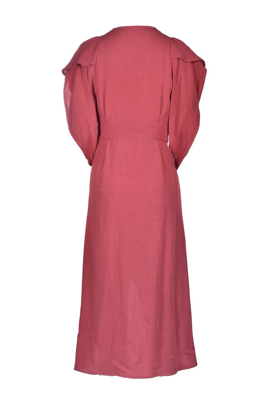 Vestito a portafoglio in viscosa e lino MOMONI | Vestiti | MODR0260410