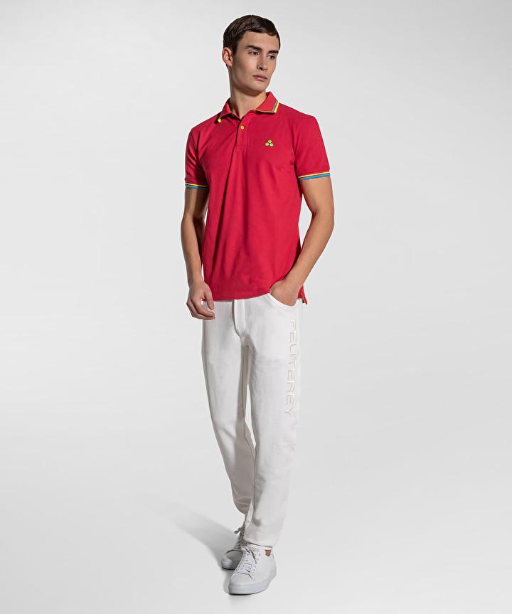 New Selandina polo shirt in crimson regular fit pique PEUTEREY | Polo Shirt | PEU3936065