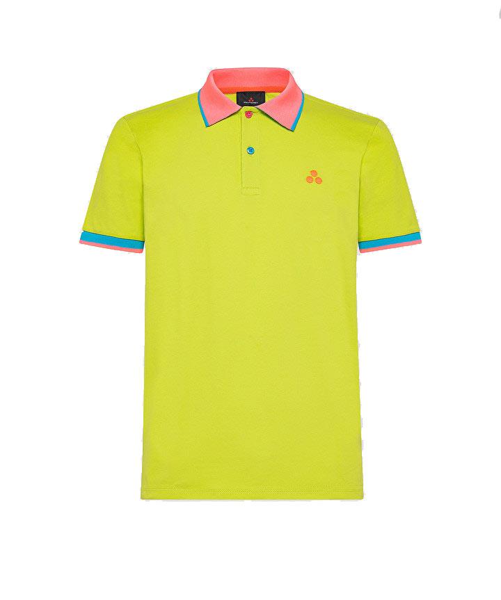New Selandina polo shirt in regular fit lime pique PEUTEREY | Polo Shirt | PEU3936549