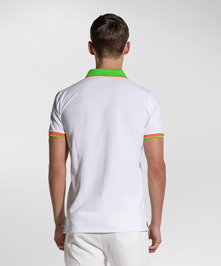 Polo New Selandina in piquet regular fit bianco PEUTEREY | Polo | PEU3936BIAOF