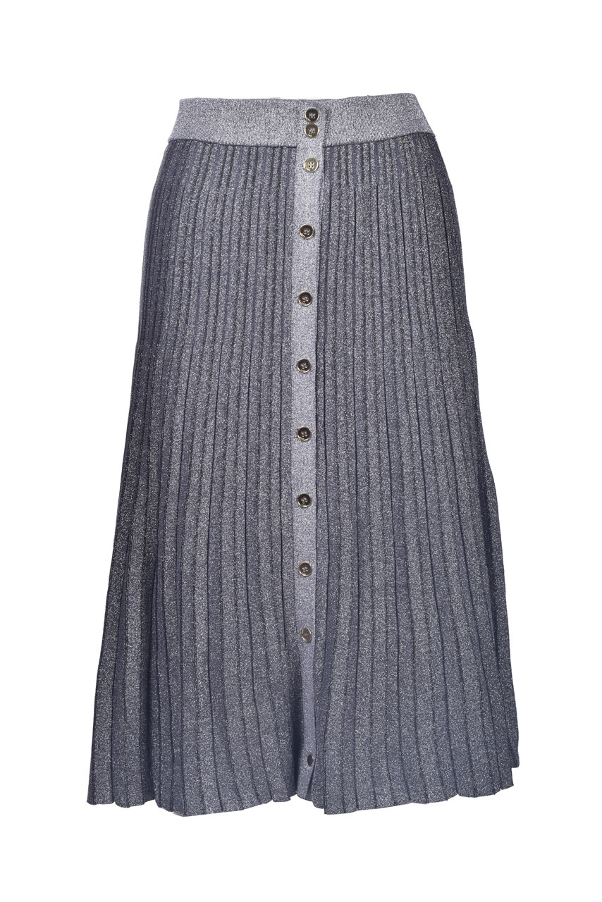 Lurex pleated longuette skirt PINKO | Skirts | 1G15R4-Y6TCK20