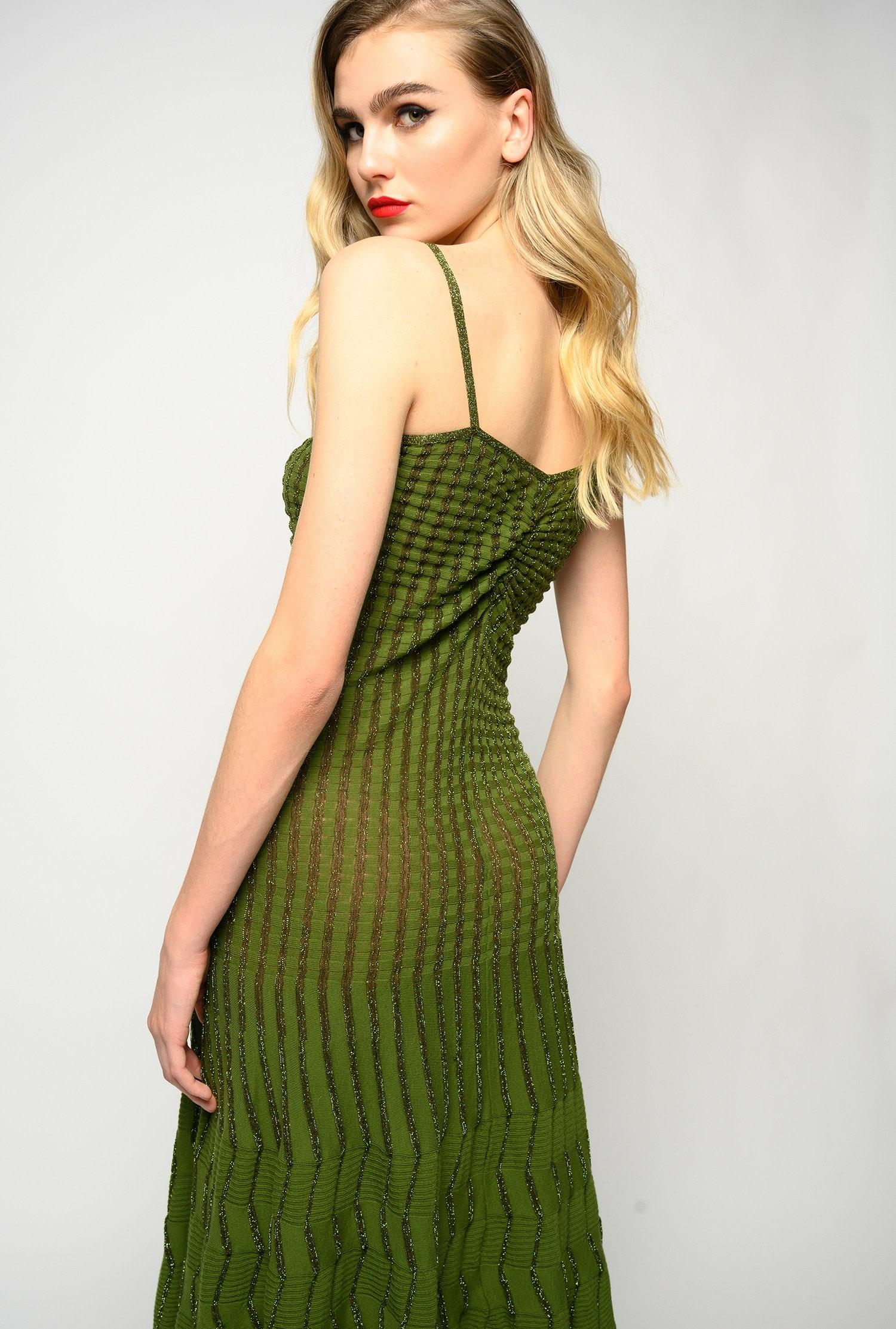 Midi dress in lurex knit with thin straps PINKO |  | 1G15SP-Y6TQXA3