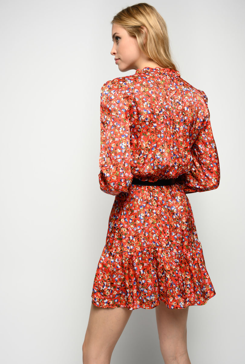 Short shirt dress in floral viscose cloqué PINKO      1G162Z-8437RE3