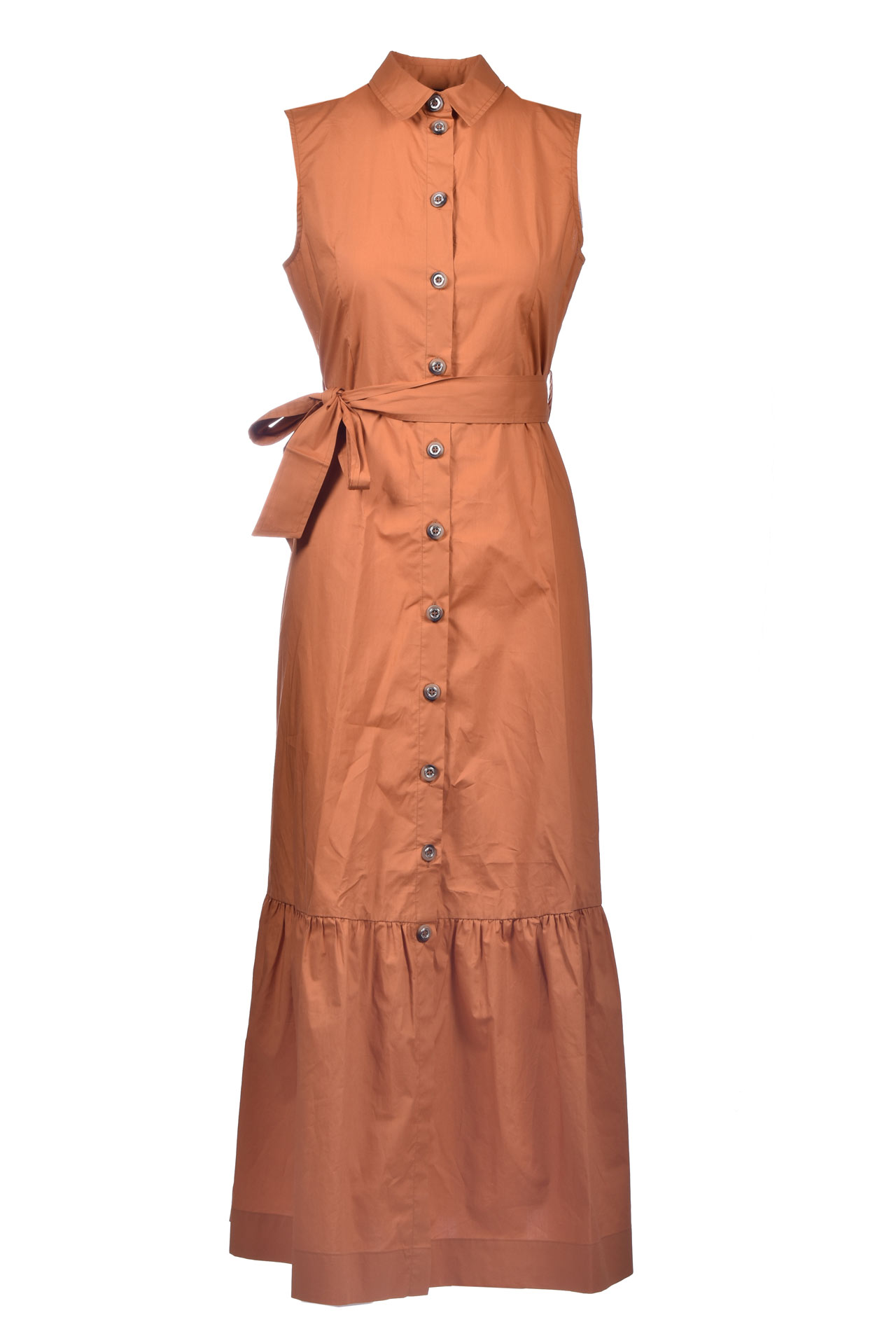 Ginger-colored cotton poplin shirt dress PINKO |  | 1G1669-Y6VXL40