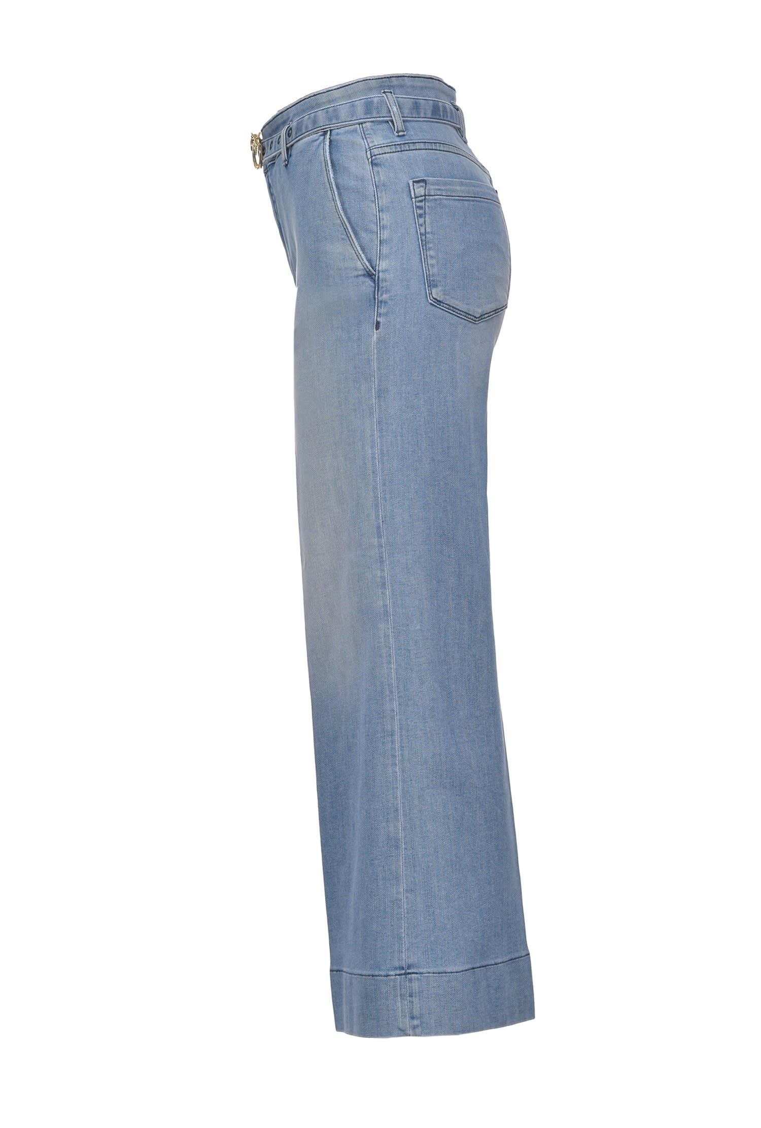 Cropped palazzo jeans in stretch denim PINKO | Jeans | 1J10L6-Y6KBG14