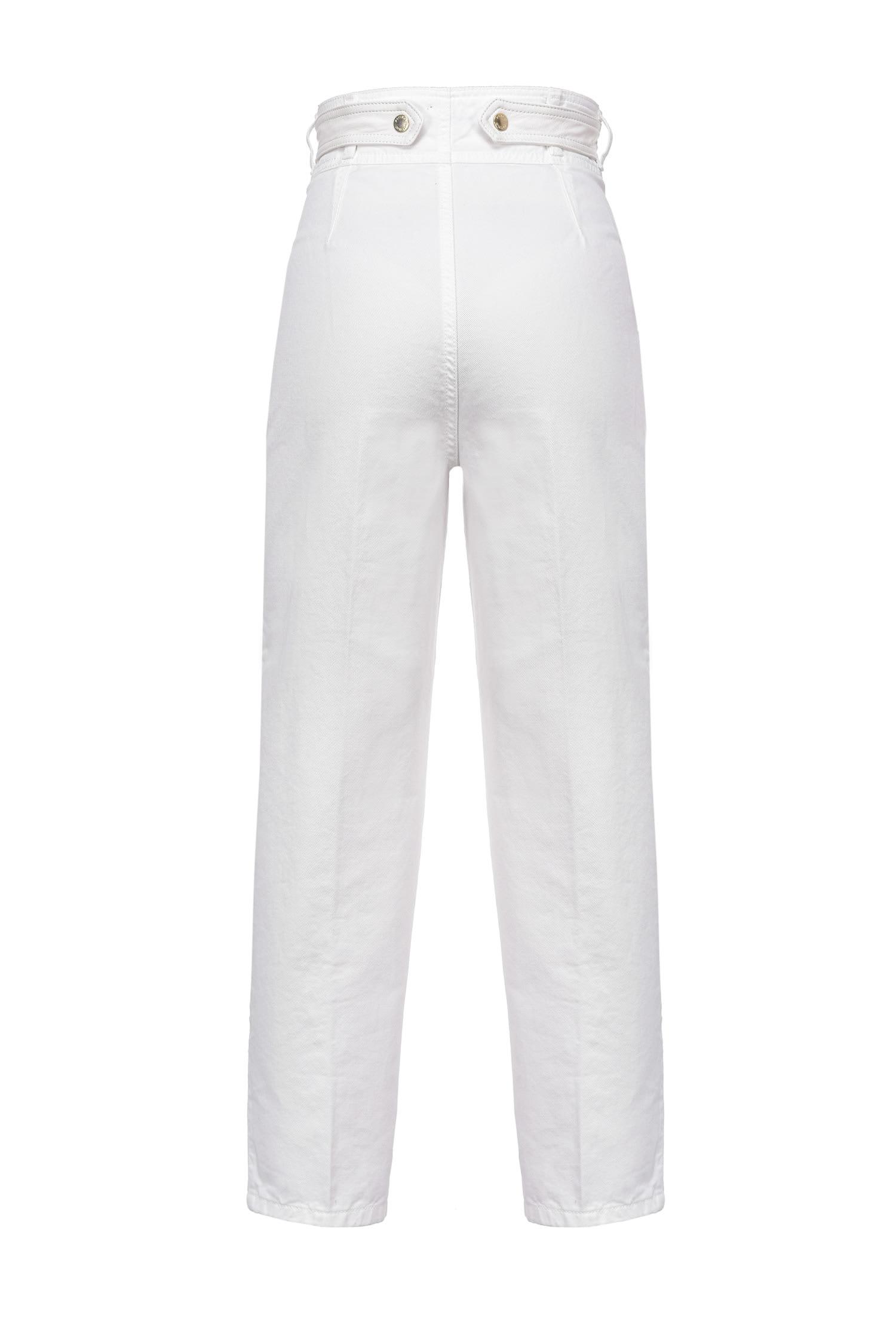 Jeans mom fit con cintura incrociata PINKO   Jeans   1J10LR-Y652Z08