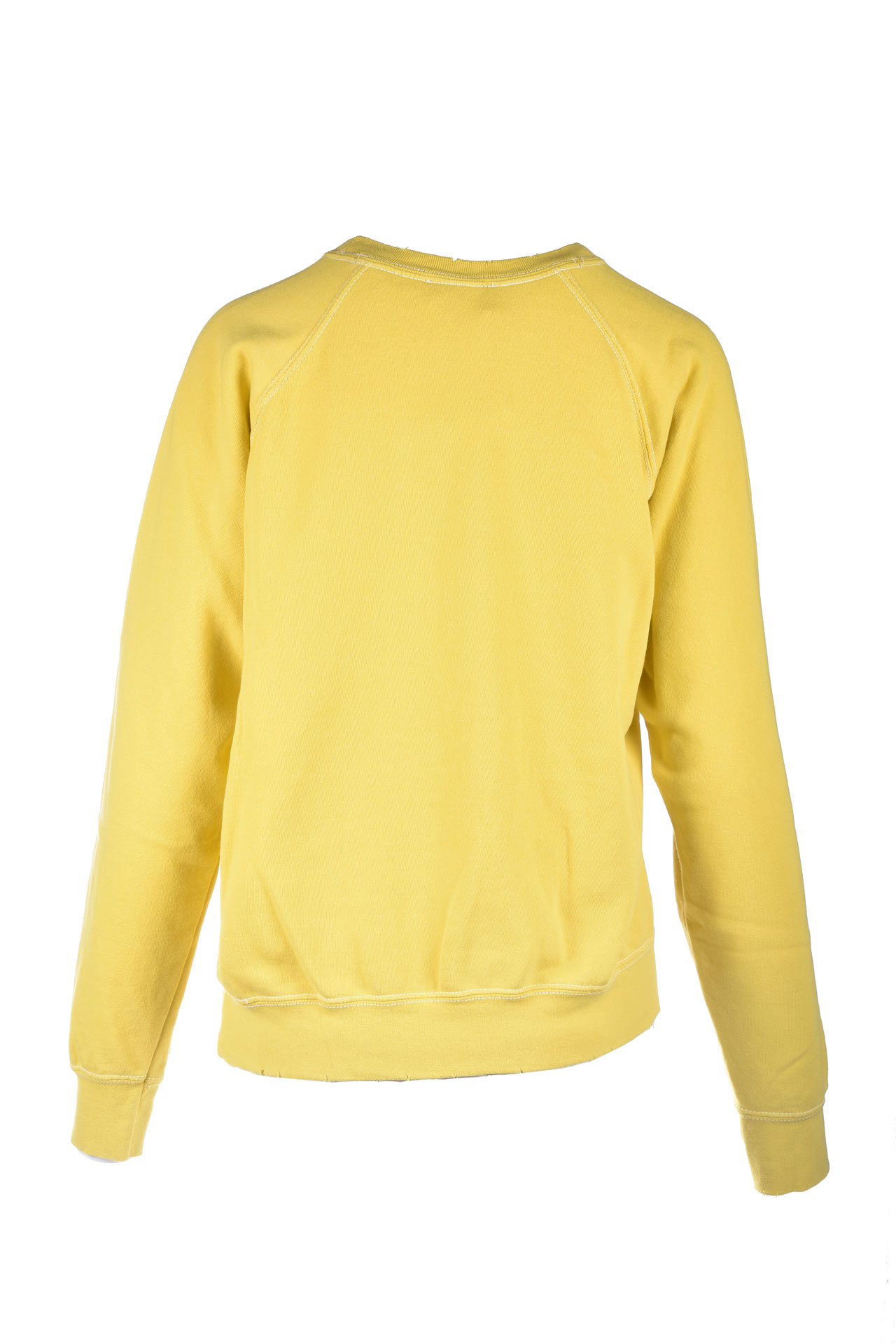 Yellow crewneck sweatshirt with white printed logo SEMICOUTURE |  | Y1SJ21B28