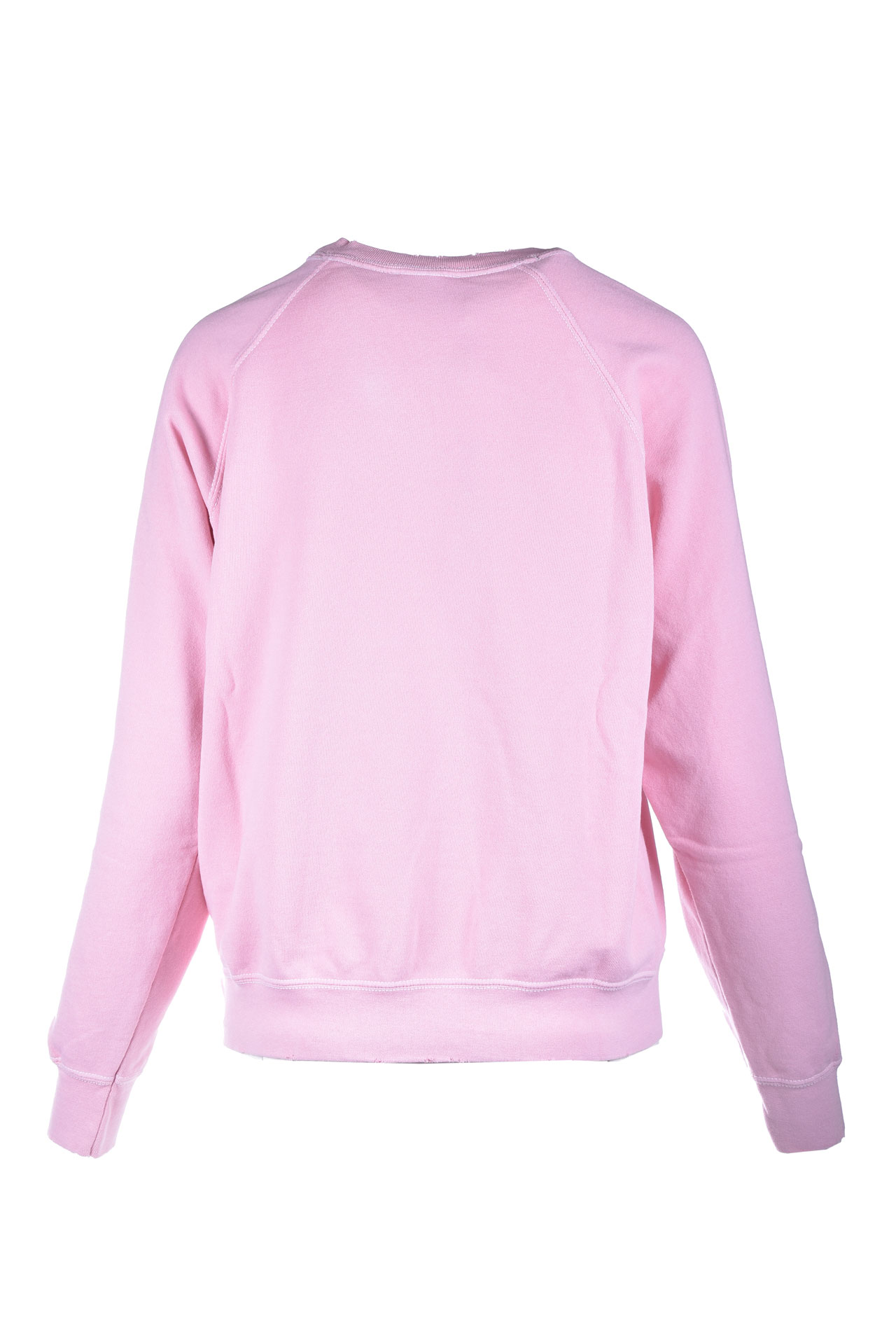 Pink crewneck sweatshirt with white printed logo SEMICOUTURE   Sweatshirt   Y1SJ21H04