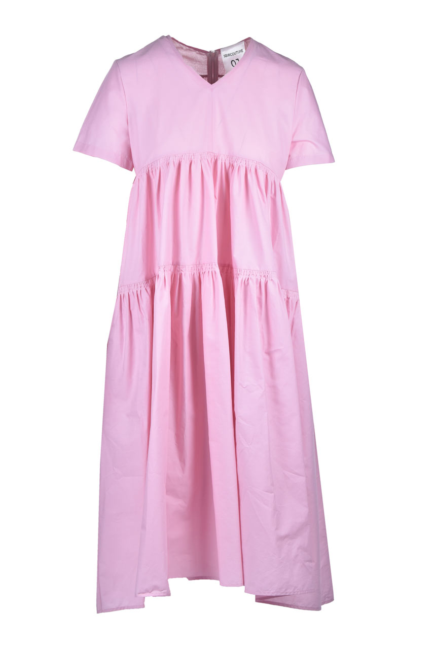 Loose midi dress in poplin SEMICOUTURE |  | Y1SK09H04