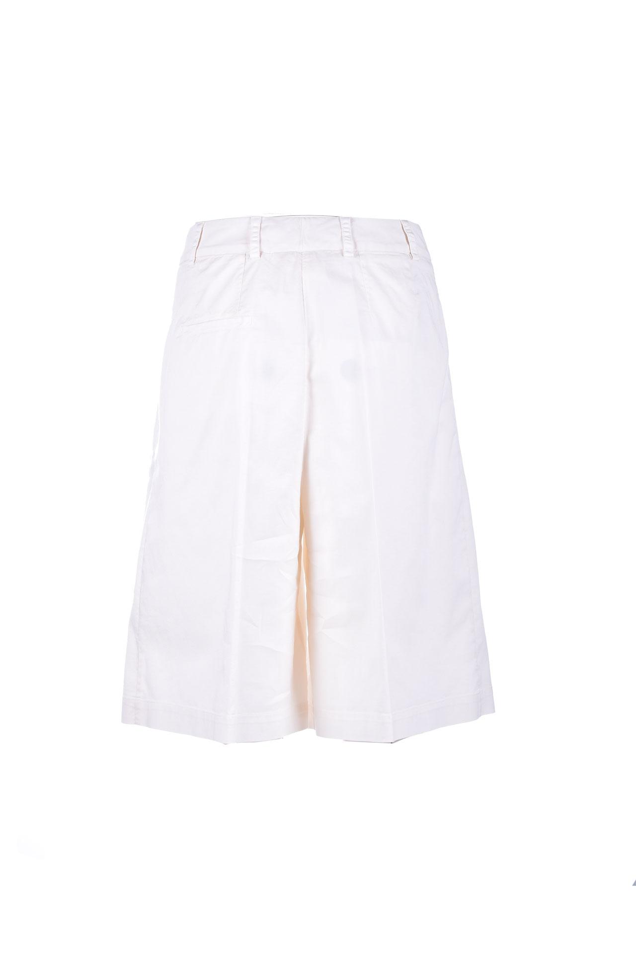 Classic knee-length Bermuda shorts in white denim SEMICOUTURE   Bermuda   Y1SO04A10