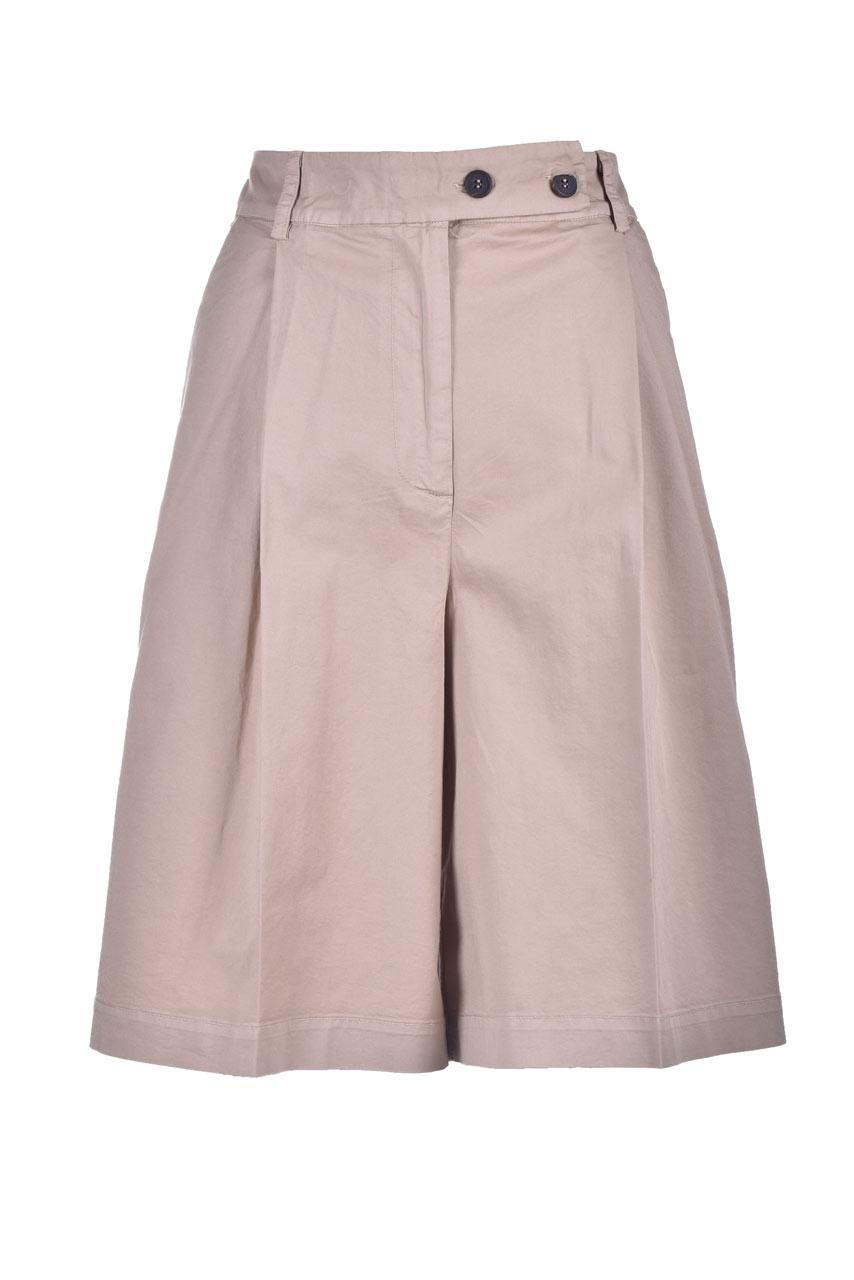 Classic knee-length bermuda shorts in denim SEMICOUTURE | Bermuda | Y1SO04V62