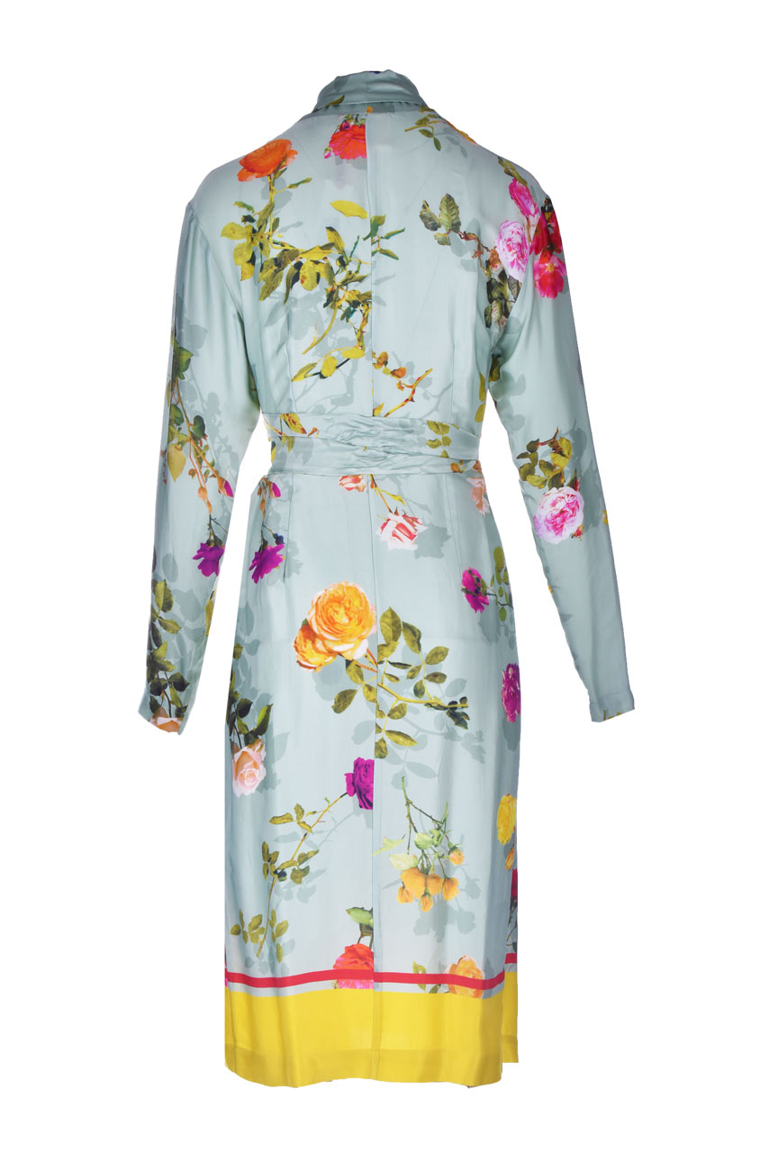 Midi kimono dress in satin with floral print SEMICOUTURE |  | Y1ST3321VAR