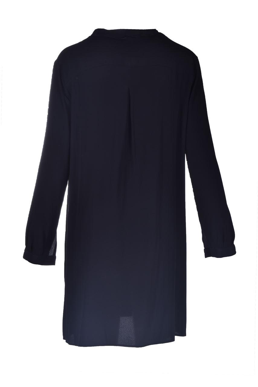 Abito corto con rouches in crepe de chine SEMICOUTURE | Vestiti | Y1SU06Y69