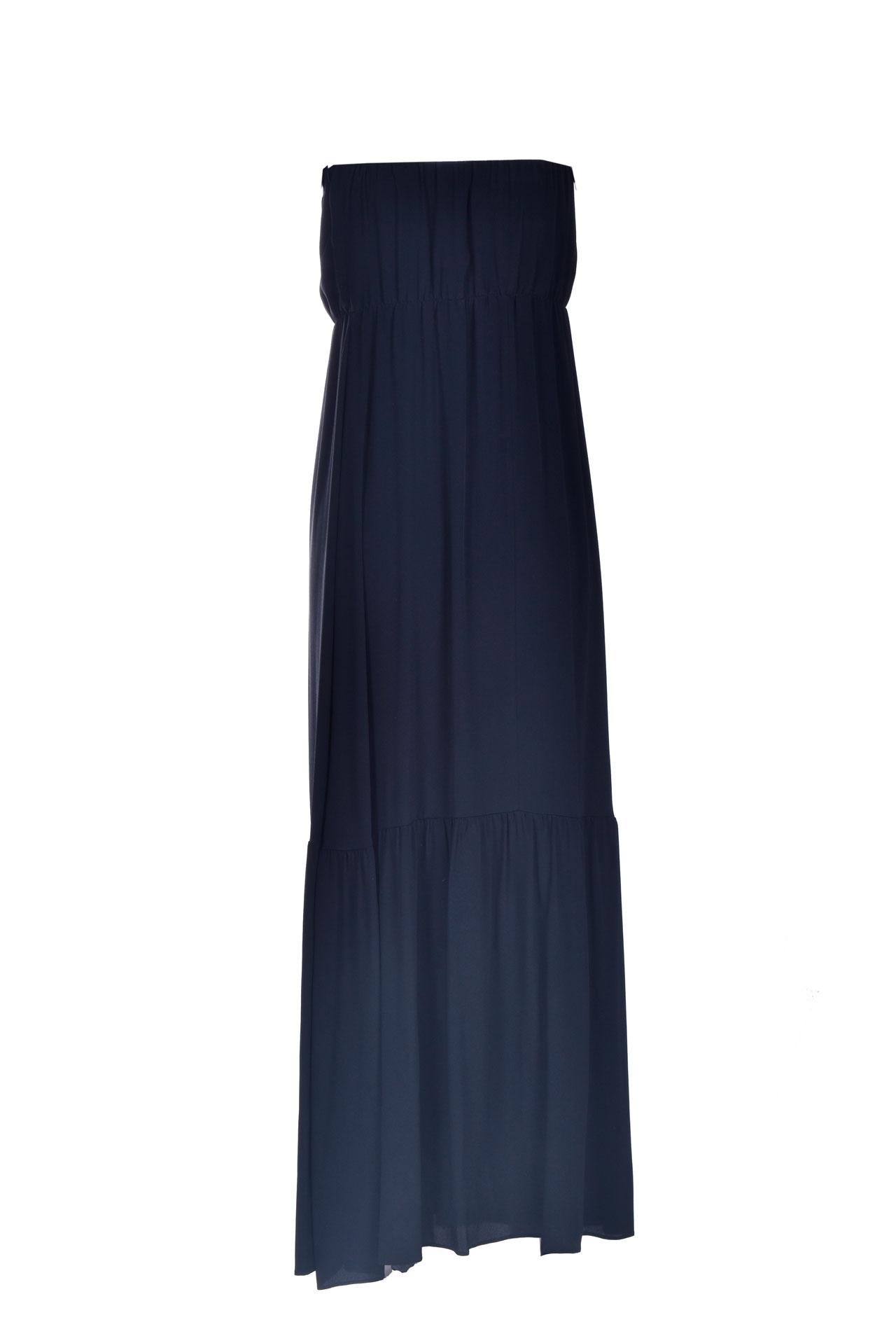 Long bandeau dress in black crepe SEMICOUTURE |  | Y1SU11Y69