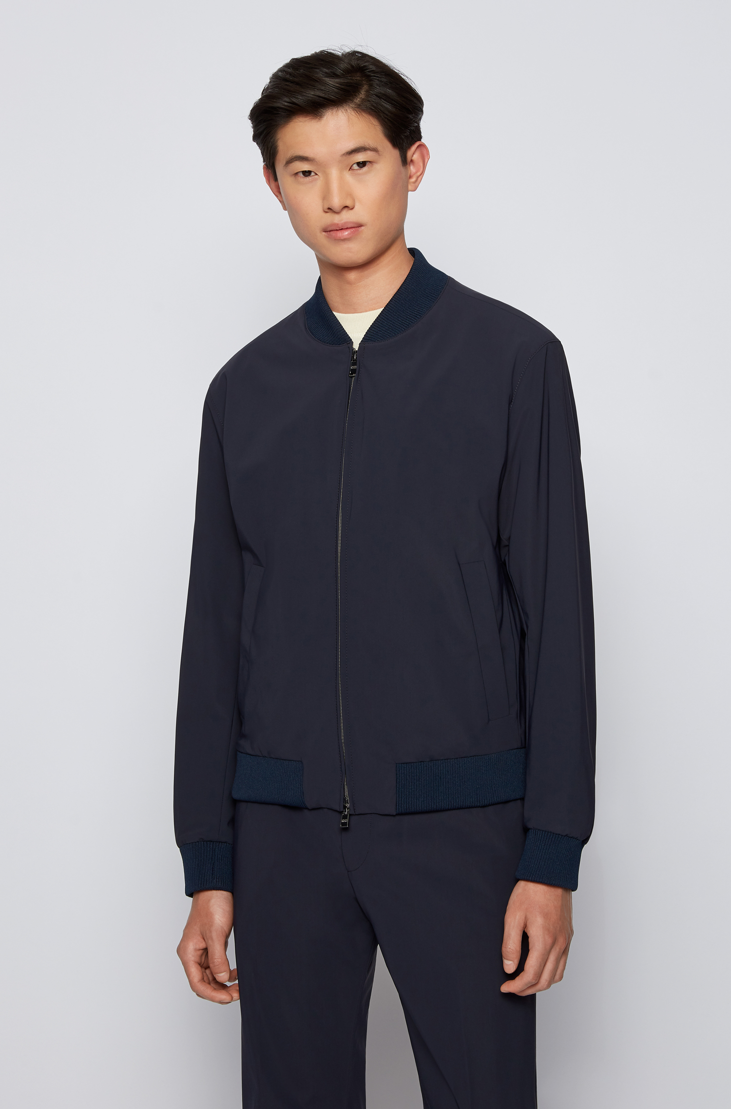 Slim fit jacket in stretch fabric BOSS | Jackets | 50453801402