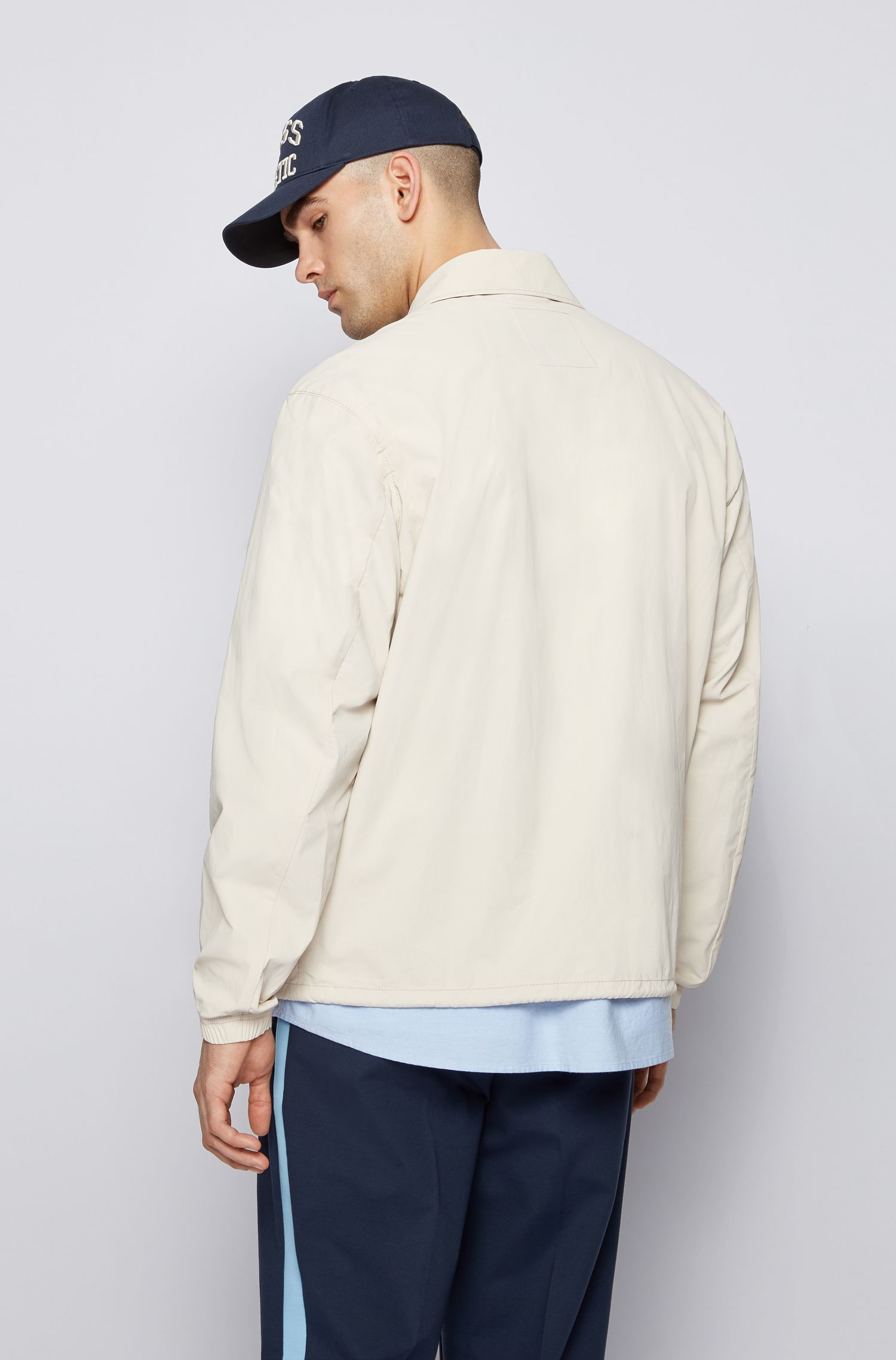 Relaxed fit jacket in cotton lined with exclusive logo BOSS | Jackets | 50455704272