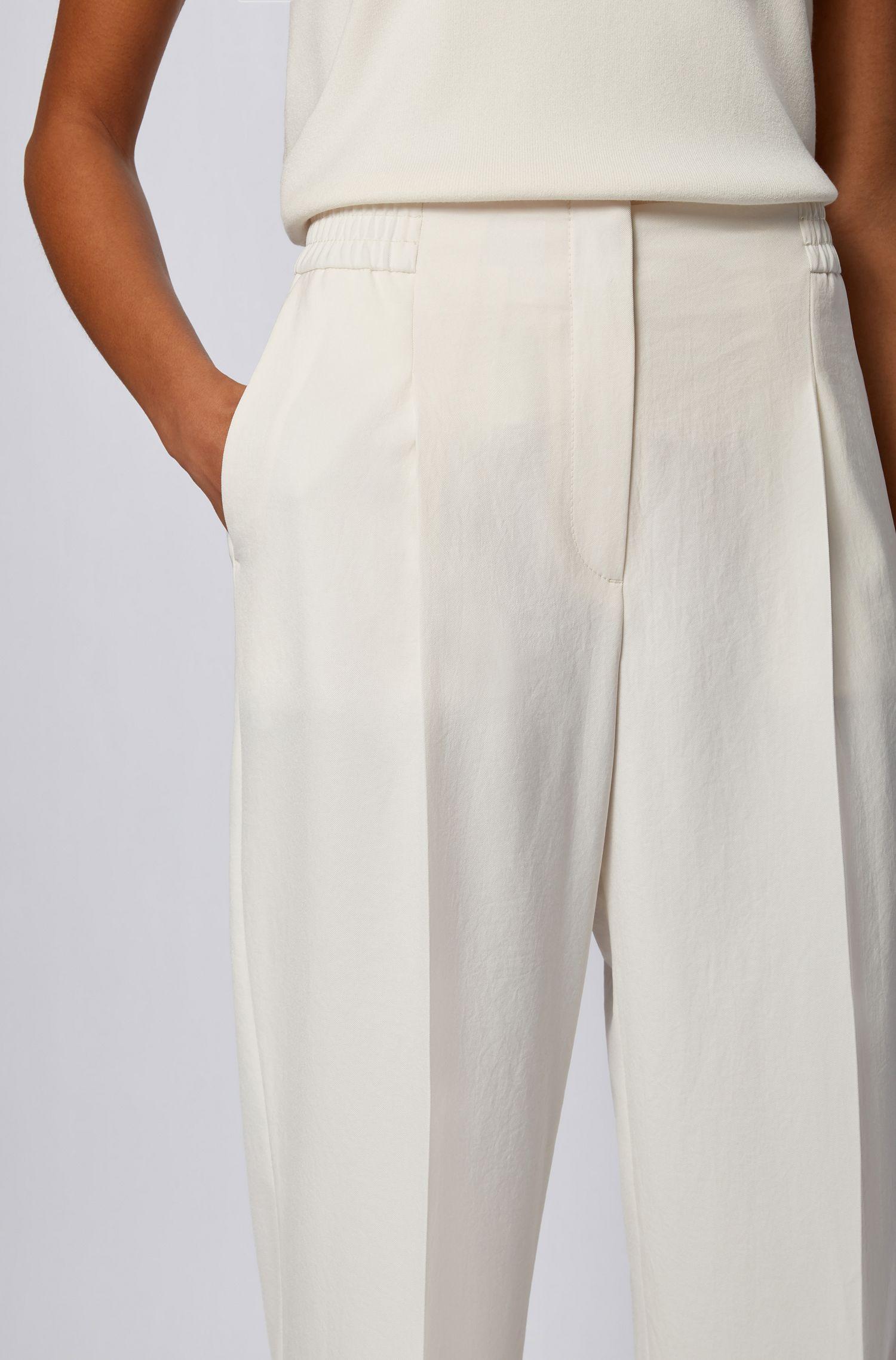 Regular fit wide leg trousers BOSS   Pants   50456072118