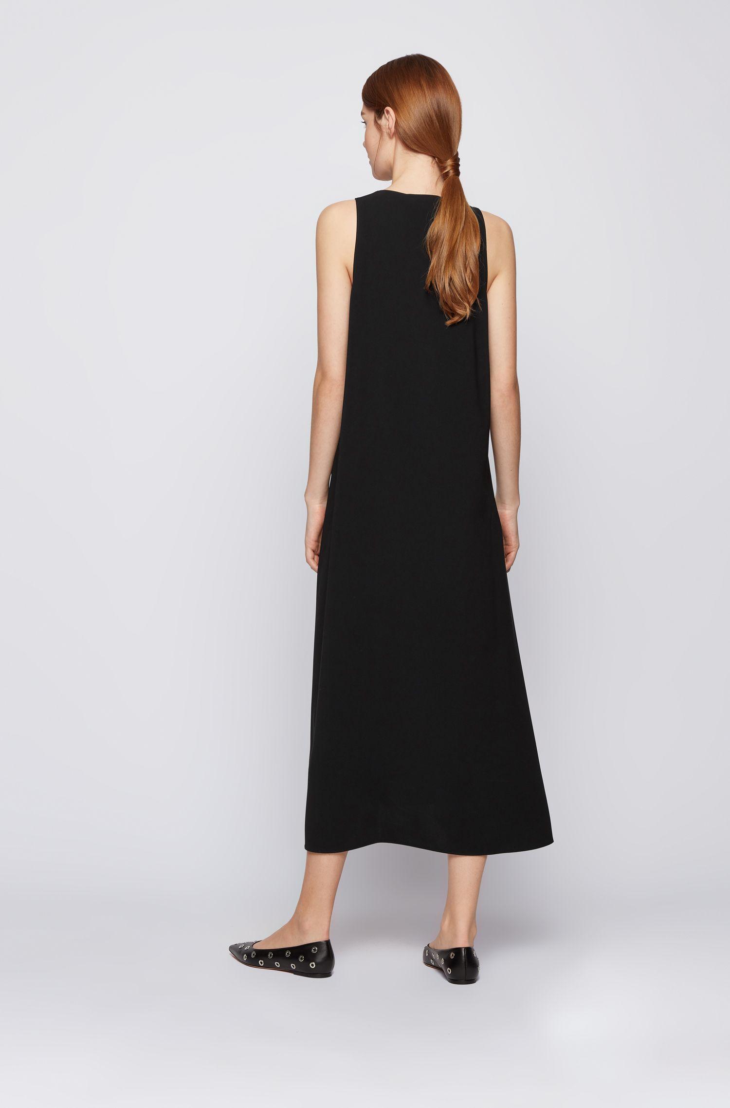Maxi vestito dalla linea svasata in crêpe con scollo a V profondo BOSS | Vestiti | 50456643001