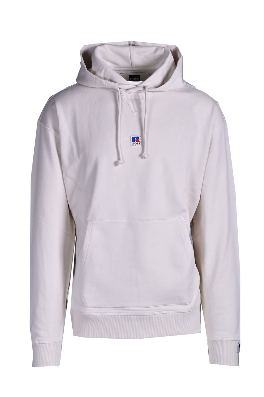 Relaxed fit unisex hoodie in organic cotton with exclusive logo BOSS | Sweatshirt | 50458960272