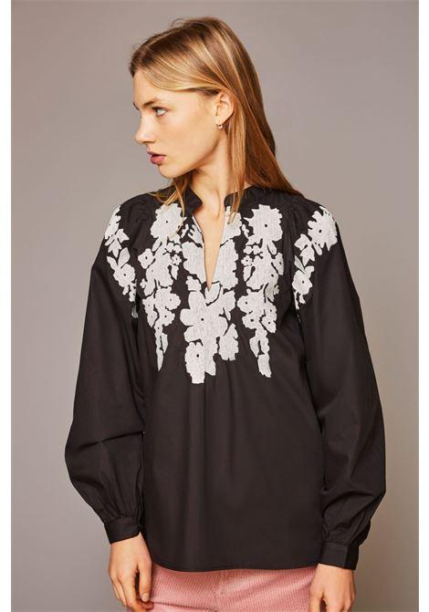Camicia Lako ricamata nera. Antik Batik ANTIK BATIK | Camicie | LAKO1SHTBLACK