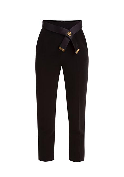 Pantalone sartoriale con cintura. Elisabetta Franchi ELISABETTA FRANCHI | Pantaloni | PA18386E2110